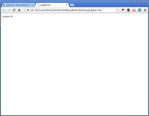 """pageok"" error message that pops up under Godaddy hosting"